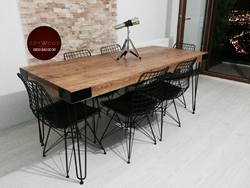 Revolution Serie Natural Wood Dining Table