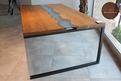 Riverart Natural Wood Dining Table Fir Wood No: 2