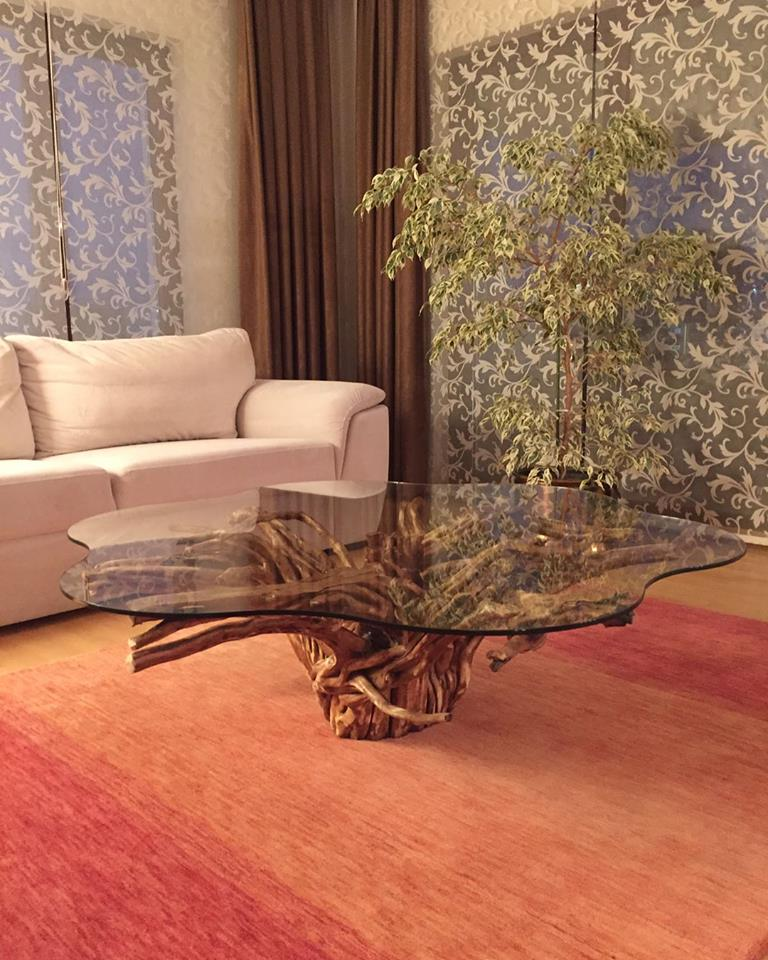 glass-coffee-table-with-mandarin-tree-root-base