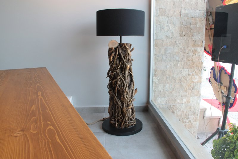 Mistik Ivy Wood Floor Lamp No:2'in resmi