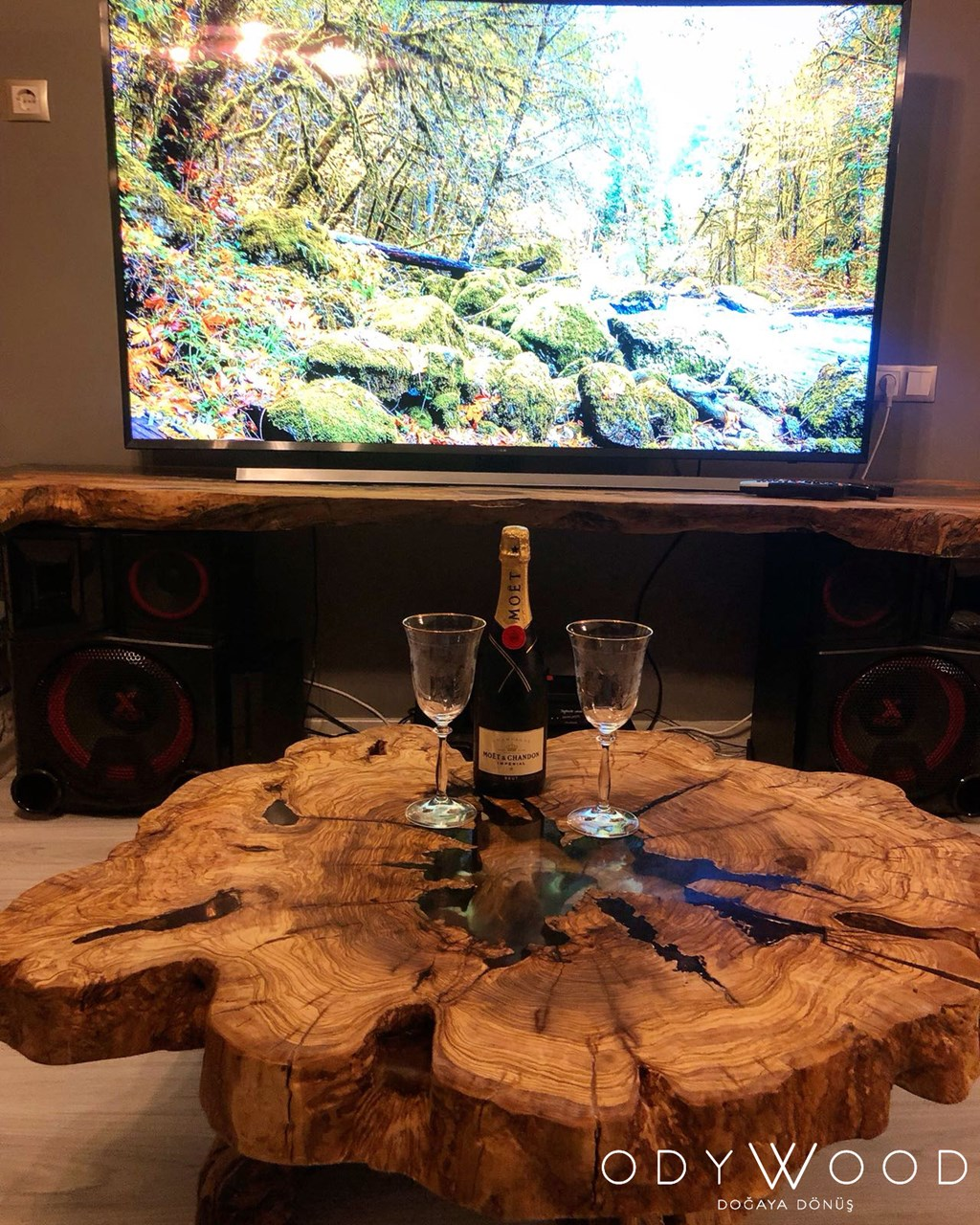 epoxy-olive-wood-log-coffee-table