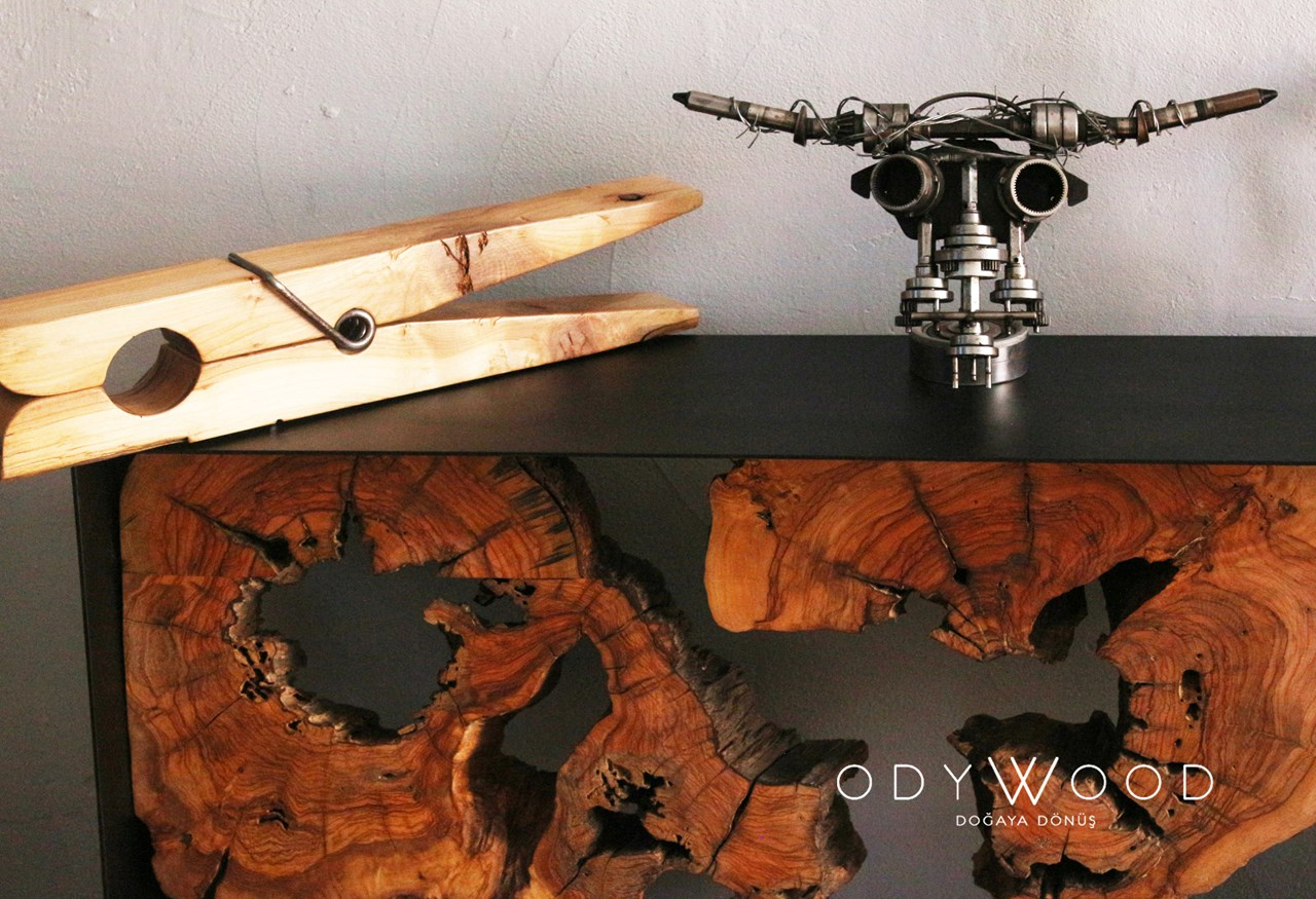 Roots Olive Wood Dresser 'in resmi