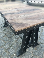ROCK! Walnut Industrial Dining Table