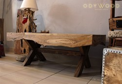 TETRİS Wooden Coffee Table - Olive Wood