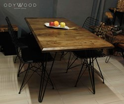 London Natural Walnut Table