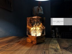 Aden Cube Epoxy Resin Desk Lamp