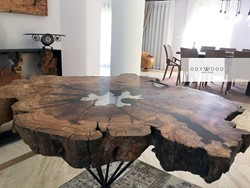 Laberry Resin Coffee Table with Leg The Crystal