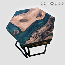 LOKI Hexagon Resin Coffee Table