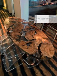world-oval-epoxy-resin-dining-table