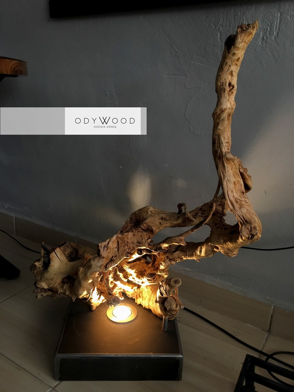 Cave 004 Root Floor Lamp'in resmi