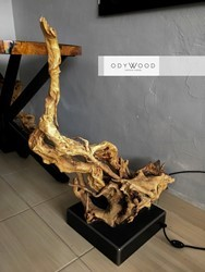 Cave 004 Root Floor Lamp