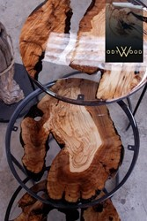 Kanyon Epoxy Coffee Tables Green Ruby